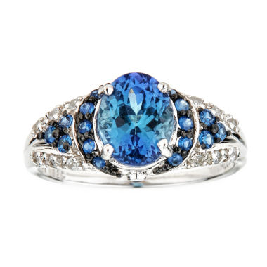 jcpenney.com | LIMITED QUANTITIES! 2 1/3 CT. T.W. Blue Tanzanite Sterling Silver Ring