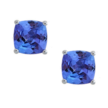 jcpenney.com | LIMITED QUANTITIES Genuine Cushion-Cut Tanzanite Sterling Silver Stud Earrings