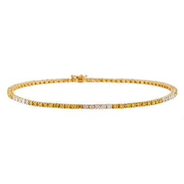 jcpenney.com | LIMITED QUANTITIES  3 CT T.W. White and Color-Enhanced Yellow Diamond 14K Yellow Gold Bracelet