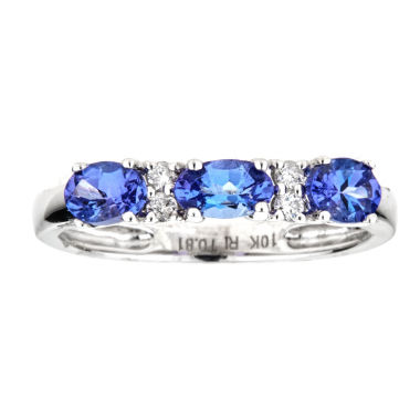 jcpenney.com | LIMITED QUANTITIES  Genuine Oval Tanzanite 10K White Gold Ring