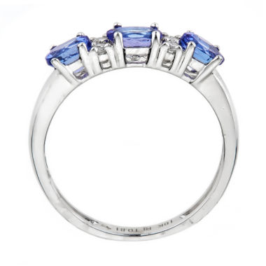 jcpenney.com | LIMITED QUANTITES!  5/8 CT. T.W. Blue Tanzanite 10K Gold 3-Stone Ring