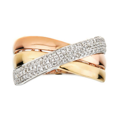 jcpenney.com | LIMITED QUANTITIES  1/3 CT. T.W. Diamond 14K Two-Tone Ring