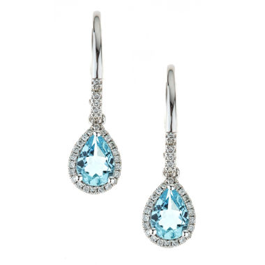 jcpenney.com | LIMITED QUANTITIES Genuine Aquamarine 10K White Gold Drop Earrings