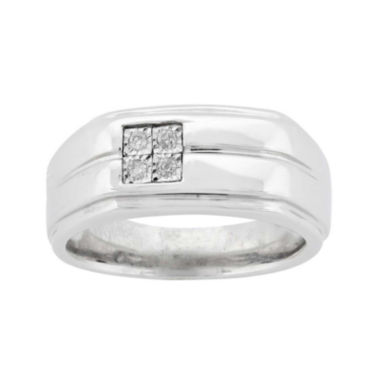 mens accent sterling silver ring jcpenney
