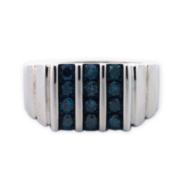 jcpenney.com | Mens Color Enhanced Blue Diamond Sterling Silver Ring