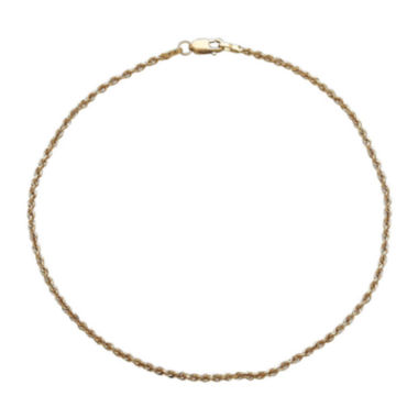 jcpenney.com |  Infinite Gold™ 14K Yellow Gold Glitter Solid Anklet Bracelet
