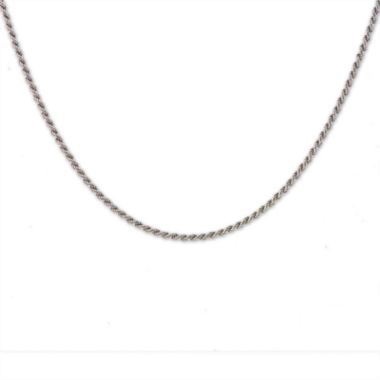 "jcpenney.com | Mens 24"" Sterling Silver Rope Chain Necklace"