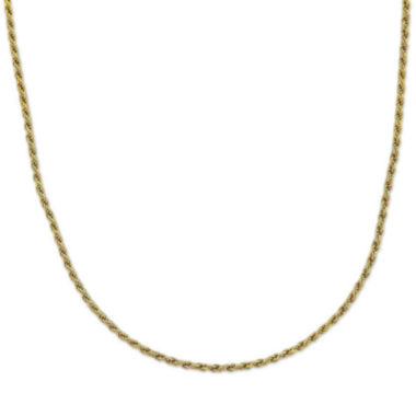 "jcpenney.com | Mens 24"" 18K Yellow Gold Over Silver Rope Chain Necklace"