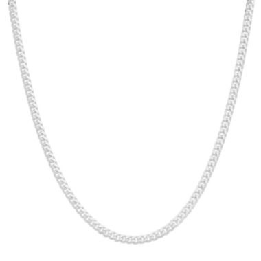 "jcpenney.com | Mens 20"" Sterling Silver Flat Curb Chain Necklace"