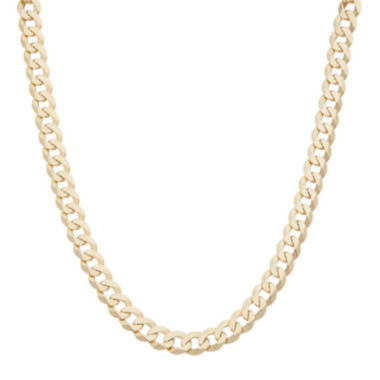 "jcpenney.com | Mens 18K Yellow Gold Over Silver 8.4mm 20"" Curb Chain Necklace"
