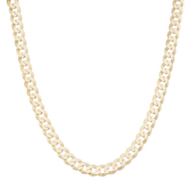 "jcpenney.com | Mens18K Yellow Gold Over Silver 8.4mm 24"" Curb Chain Necklace"