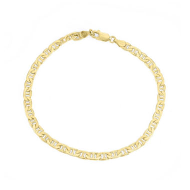 "jcpenney.com |  Mens 18K Yellow Gold Over Silver 9"" Mariner Chain Bracelet"