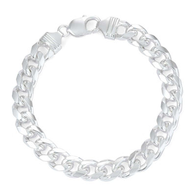 Mens 9 Quot Sterling Silver Curb Chain Bracelet Jcpenney
