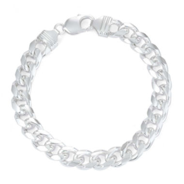 "jcpenney.com | Mens 9"" Sterling Silver Curb Chain Bracelet"