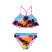 Big Chill 2-pc. Palm Tree Bikini Swimsuit - Girls 7-16