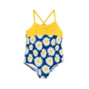 Wippette 1-pc. Daisy Swimsuit - Toddler Girls 2t-5t