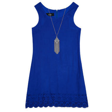 jcpenney.com | Byer® Sleeveless Cobalt Faux-Suede A-Line Shift Dress - Girls 7-16