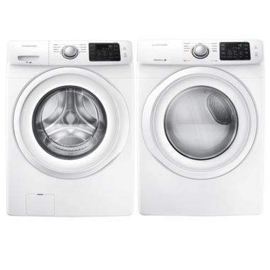 jcpenney.com | Samsung Front Load 2-pc. Electric Washer and Dryer Set- White