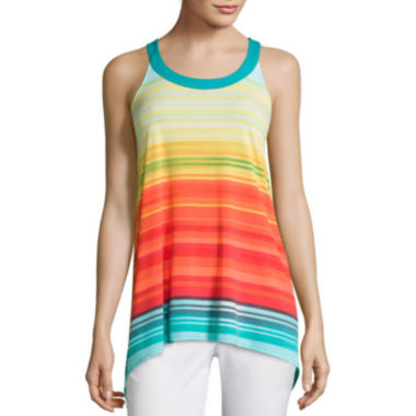 jcpenney.com | Worthington® Hi-Lo Racerback Tank Top - Tall