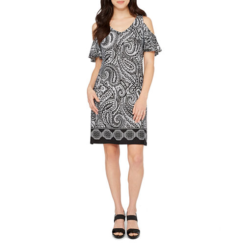 MSK Cold Shoulder Shift Dress