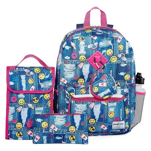 6PC Confetti Backpack Set