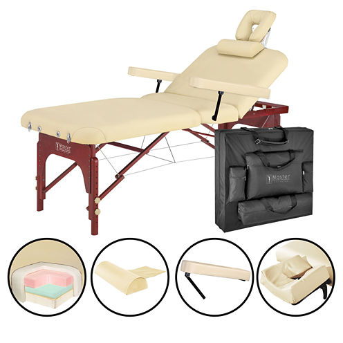 """Master® Massage 31"""" SpaMaster™ Portable LX Massage Table Package"""