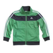 adidas® Tricot-Knit Track Jacket - Boys 2t-3t
