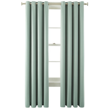 jcpenney.com | Liz Claiborne® Kathryn Room-Darkening Grommet-Top Curtain Panel