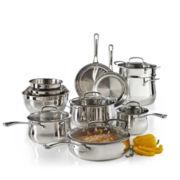 Cuisinart® Contour 13-pc. Stainless Steel Cookware Set + BONUS