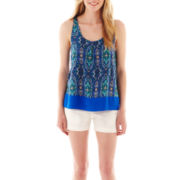 jcp™ Pleated Tank Top or Twill Shorts