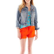 jcp™ Denim Jacket, Short-Sleeve Linen Tee or Cuffed Poplin Drawstring Shorts