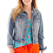 jcp™ Destructed Denim Jacket
