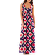 jcp™ Sleeveless Crossover Maxi Dress
