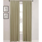 Supreme Palace Antique Satin Pinch-Pleat Lined Curtain Panel Pair