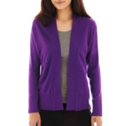 Liz Claiborne Shawl-Collar Cardigan Sweater - Tall
