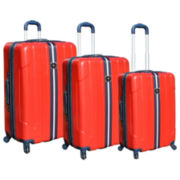 FORD Mustang 3-pc. Hardside Spinner Upright Luggage Set