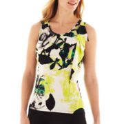 Worthington® Sleeveless Side-Ruffle Top
