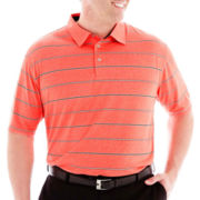 PGA TOUR® Heather Striped Polo-Big & Tall