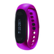 Soleus Rise Fitness Pink Resin Band Digital Watch
