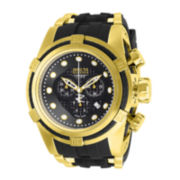 Invicta® Reserve Bolt Zeus Mens Gold-Tone Stainless Steel Chronograph Watch 12666