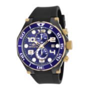 Invicta® Pro Diver Mens Black Silicone Strap Chronograph Sport Watch 17814