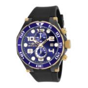 Invicta® Pro Diver Mens Black Silicone Strap Chronograph Sport Watch