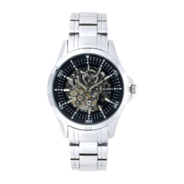 jcpenney.com | Elgin Mens Skeleton Silver-Tone Automatic Watch