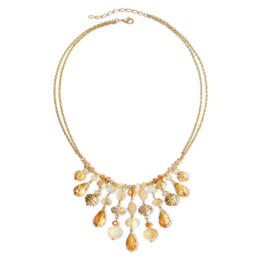 jcpenney.com | Vieste® Multicolor Crystal and Bead Frontal Shaky Necklace