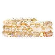 Vieste® Multicolor Crystal Coil Bracelet