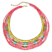 Decree® Pink Seed Bead Necklace