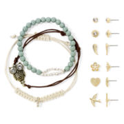 Arizona 9-pc. Bracelet and Earring Set