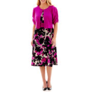 Danny & Nicole® Floral Print Jacket Dress - Plus