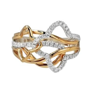 jcpenney.com | LIMITED QUANTITIES 3/8 CT. T.W. Diamond 14K Two-Tone Gold Ring