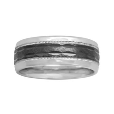 jcpenney.com | Mens 8mm Comfort Fit Two-Tone Sterling Silver Ring